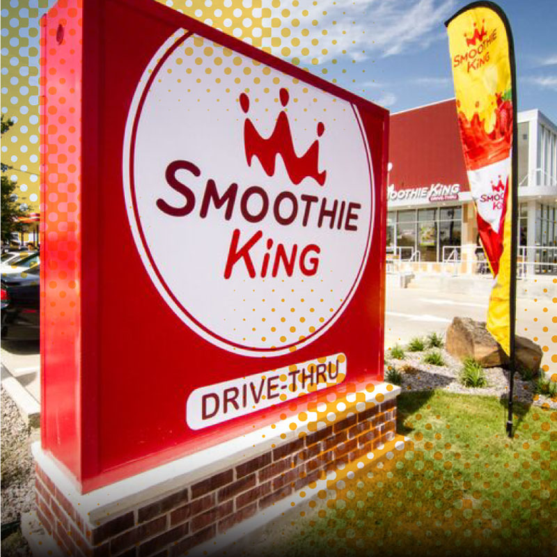 Smoothie King store sign
