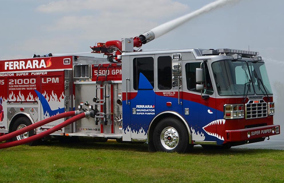 Automotive industry provides emergency vehicles for Ferrara Fire Department