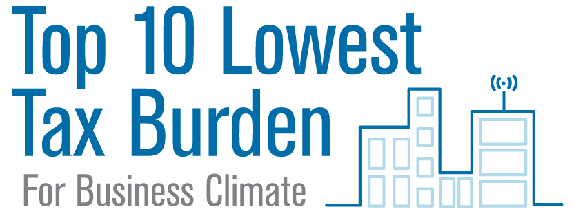 Top 10 Lowest Tax Burden For Business Climate