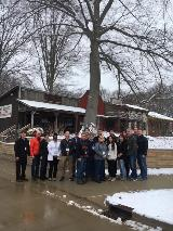 Group photo outside of Billieville 2