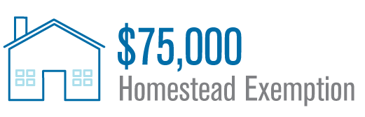 Louisiana offers $75,000 dollars in homestead exemption